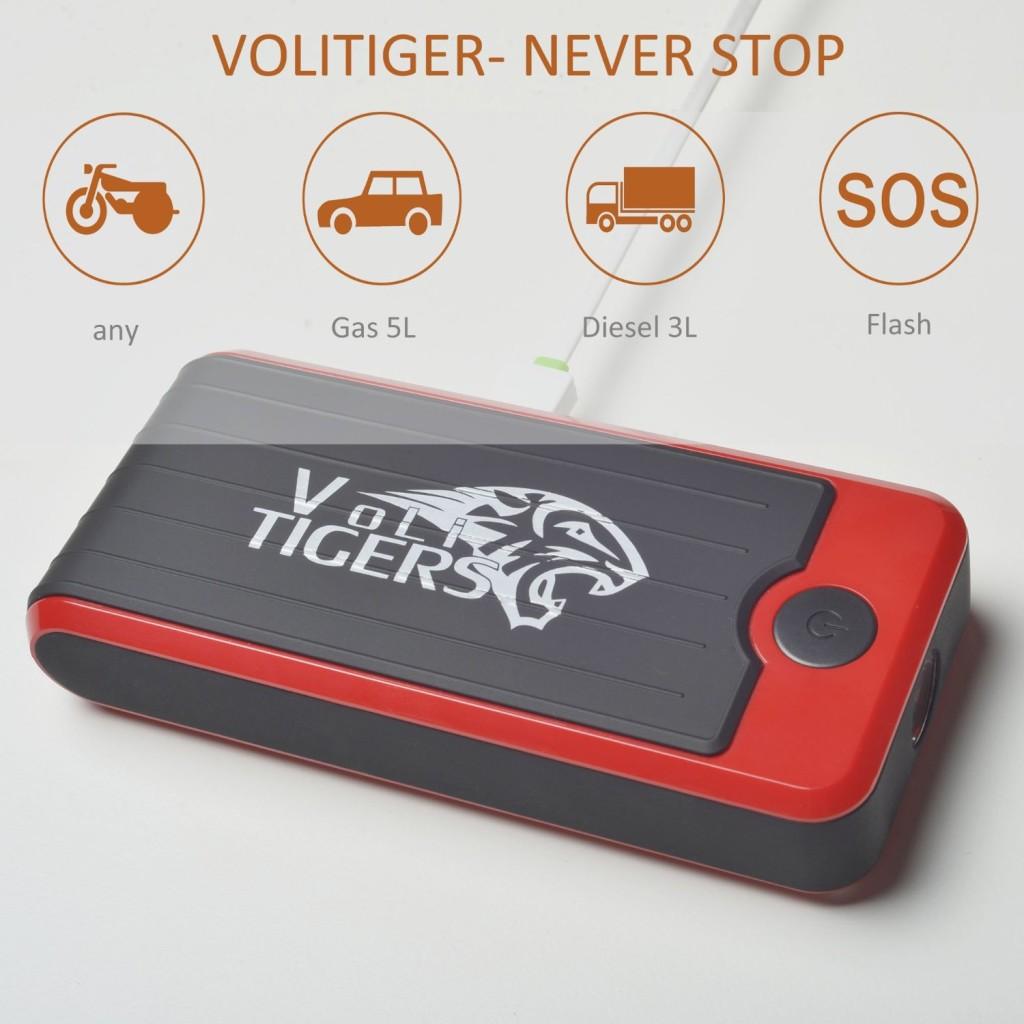 Volitiger -Never Stop 16500mah Portable Car Jump Starter