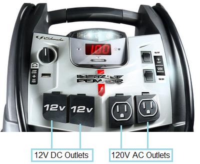 Schumacher XP2260 Power Outlets